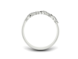 All Diamond Wedding Ring 0.15cts. in Palladium - 9