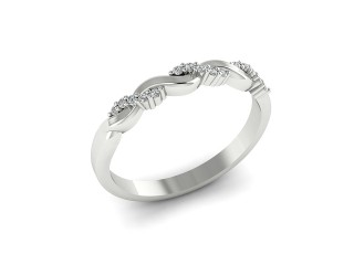 All Diamond Wedding Ring 0.15cts. in Palladium - 12