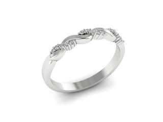 All Diamond Wedding Ring 0.15cts. in Palladium