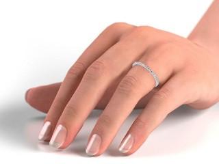 All Diamond Wedding Ring 0.20cts. in Palladium
