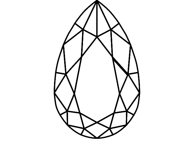 Pear-Shape Diamond