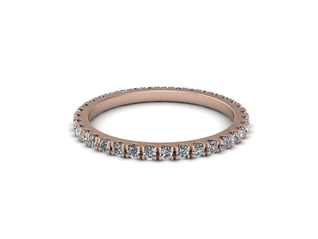 9ct. Rose Gold Fully Set Diamond Wedding Rings