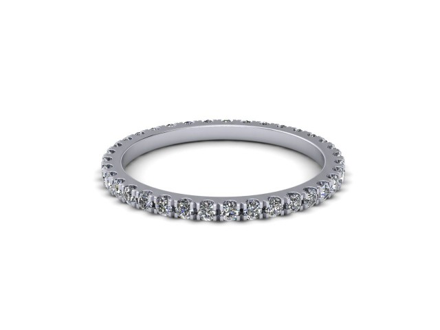 9ct. White Gold Fully Set Diamond Wedding Rings