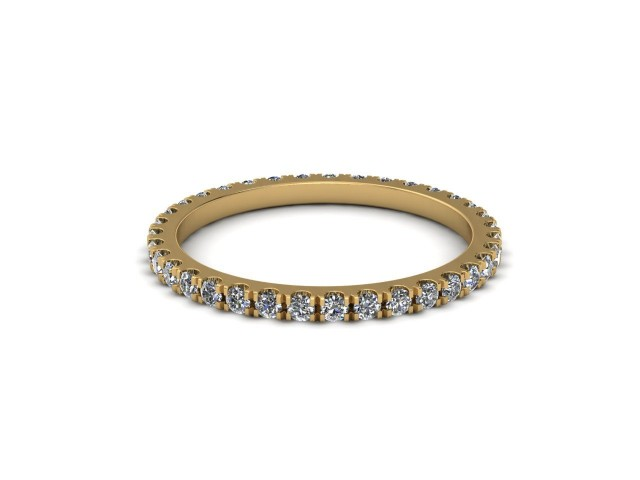 Yellow Gold Fully Set Diamond Wedding Rings