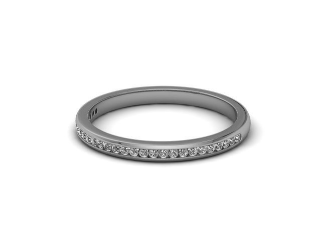 Palladium Part-Set Diamond Wedding Rings