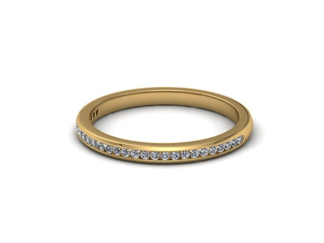 9ct. Yellow Gold Part-Set Diamond Wedding Rings