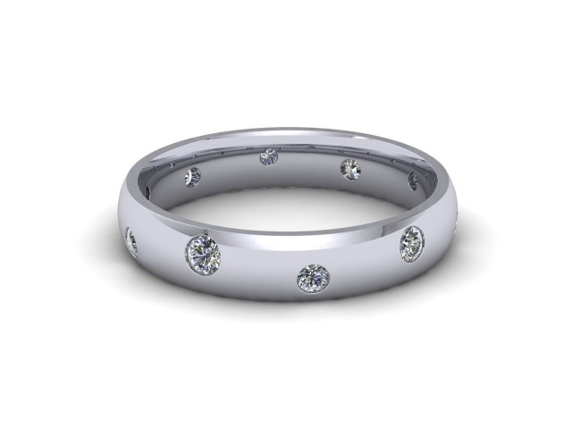 White Gold Diamond Scatter Wedding Rings