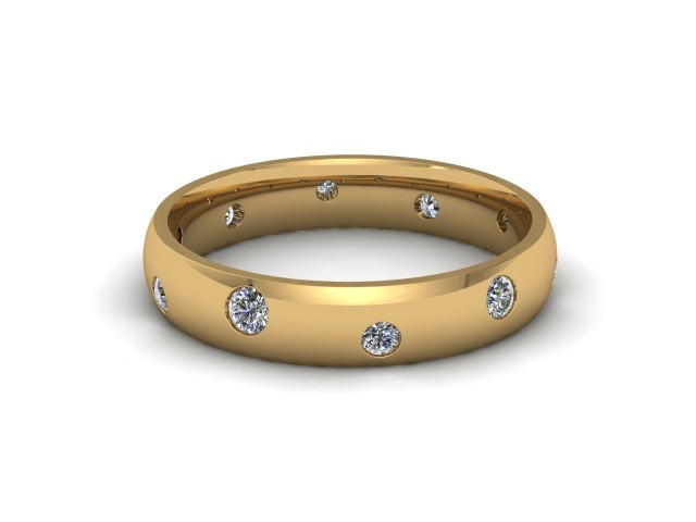9ct. Yellow Gold Diamond Scatter Wedding Rings