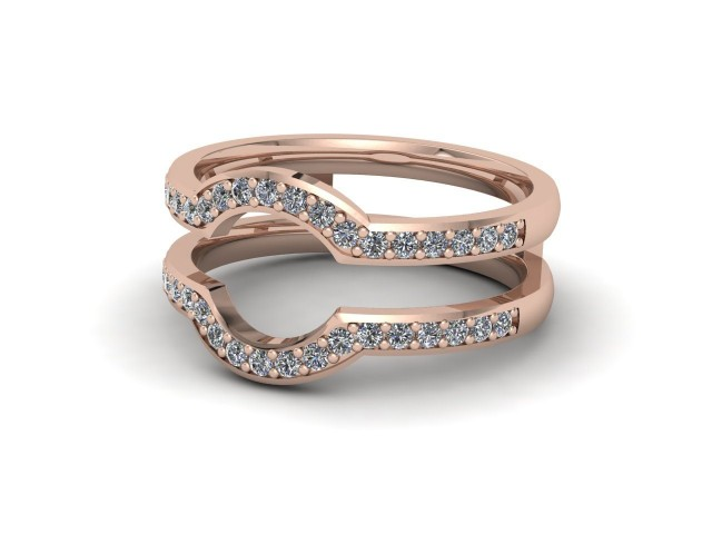 9ct. Rose Gold Jacket Wedding Rings