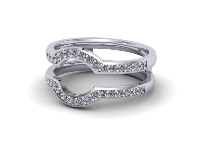 White Gold Jacket Wedding Rings
