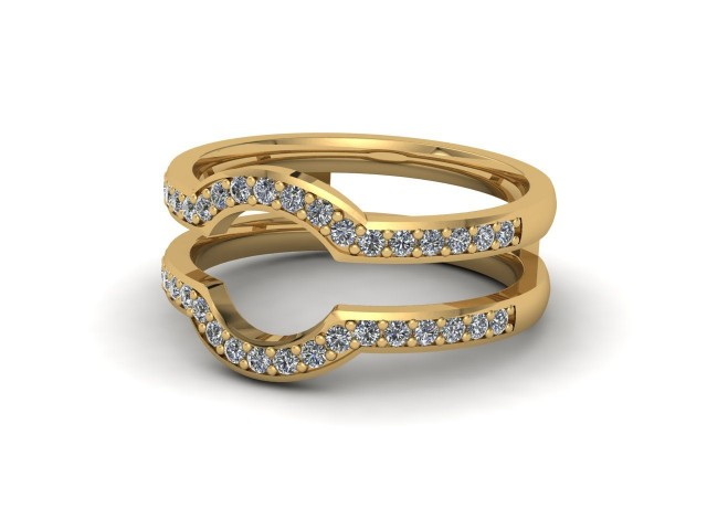 Yellow Gold Jacket Wedding Rings