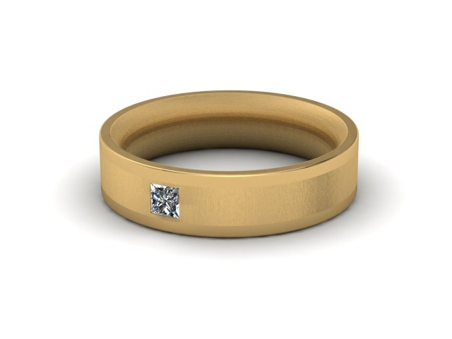 Yellow Gold Single Diamond Wedding Rings