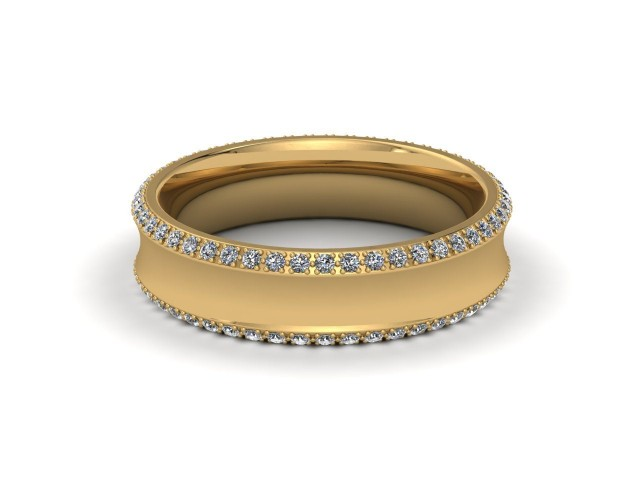 9ct. Yellow Gold Designer Diamond Wedding Rings