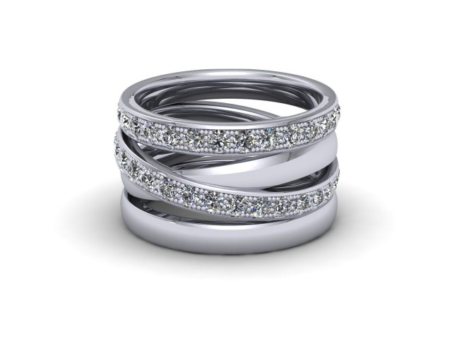 Platinum Statement Wedding Rings. Wow!