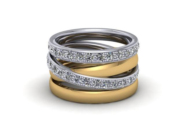 White and Yellow Gold Statement Wedding Rings. Wow!