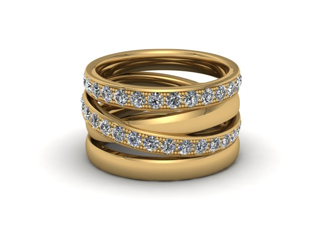 Yellow Gold Statement Wedding Rings. Wow!