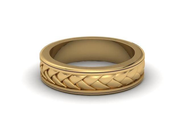9ct. Yellow Gold Celtic Design Wedding Rings