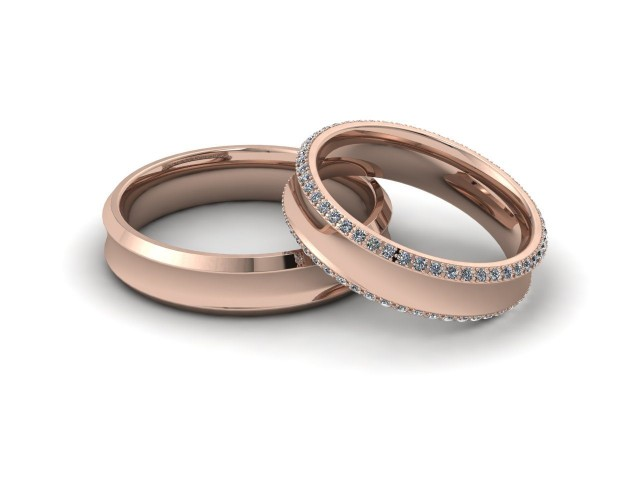Rose Gold Matching Wedding Ring Sets