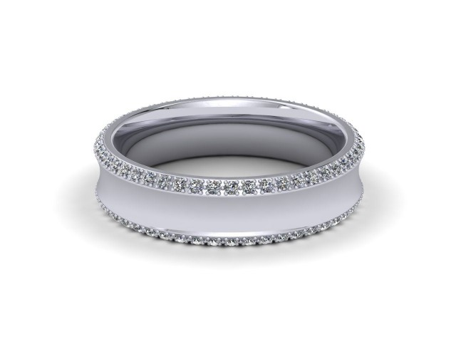 9ct. White Gold Wedding Rings